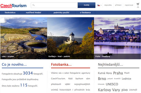 Fotobanka, screenshot